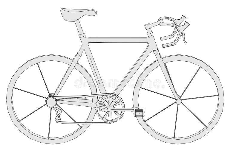 Imagen de la bici clásica ilustración del vector
