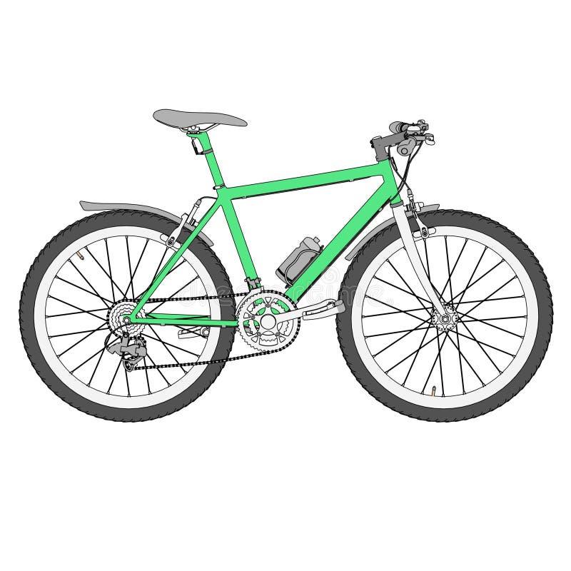 Imagen de la bici de montaña ilustración del vector