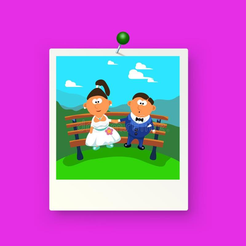 Imagen de la boda ilustración del vector