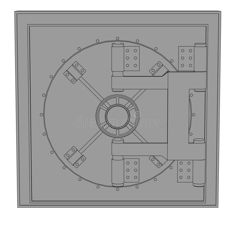imagen de la cámara acorazada de banco stock de ilustración