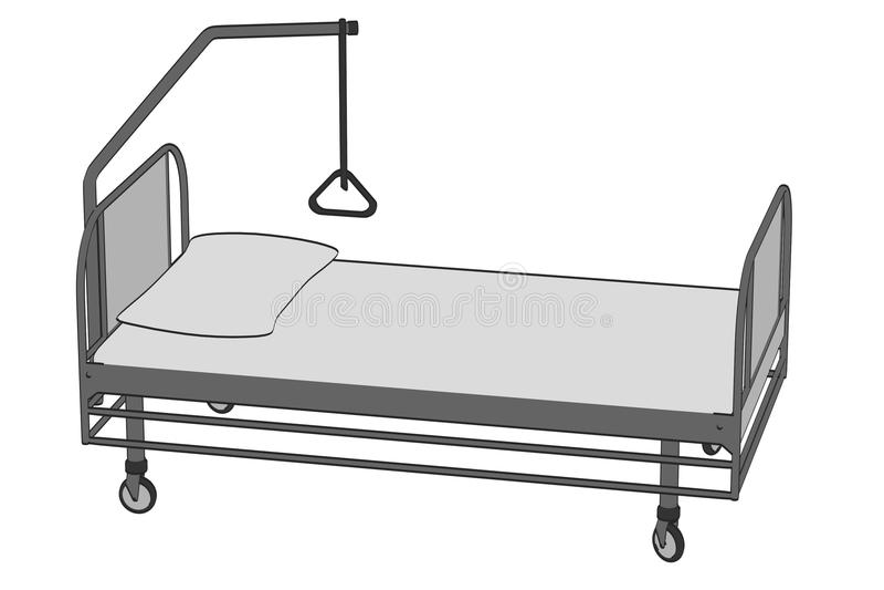 Imagen de la cama de hospital stock de ilustración