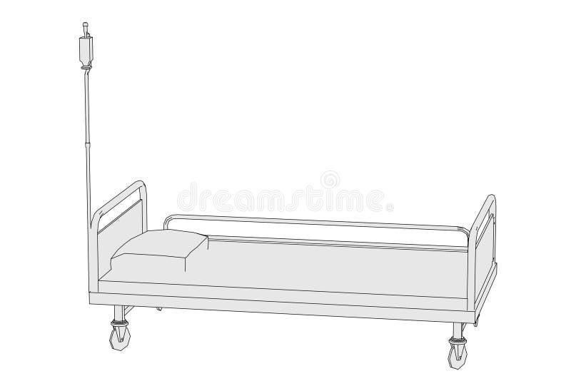 Imagen de la cama de hospital ilustración del vector