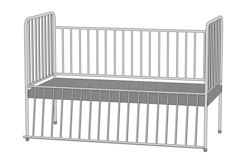Imagen de la cama de hospital libre illustration