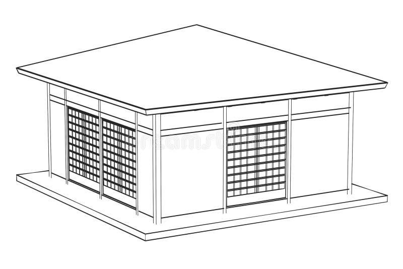 Imagen de la casa de Japón ilustración del vector