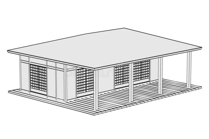 Imagen de la casa de Japón libre illustration