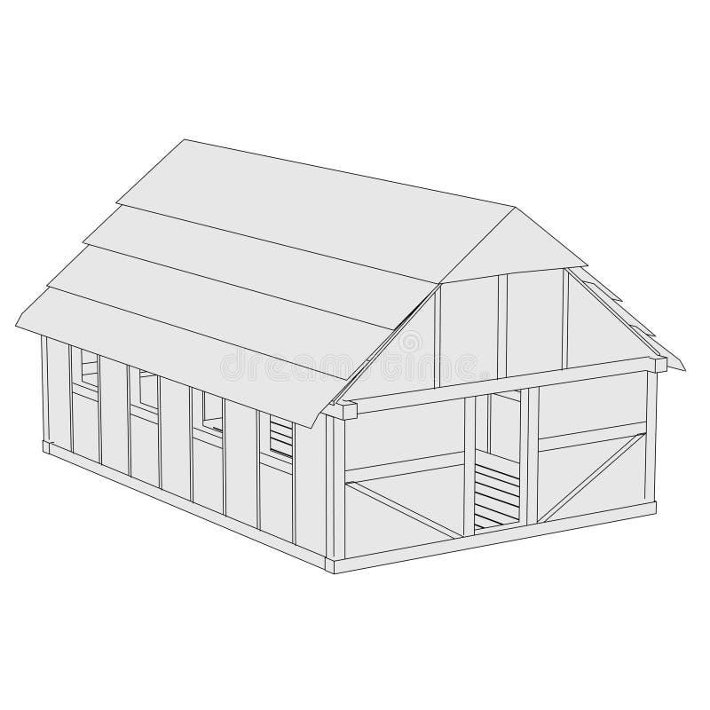 Imagen de la casa medieval ilustración del vector