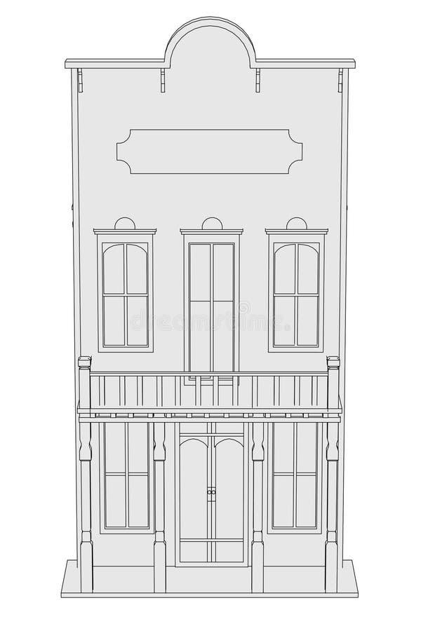 Imagen de la casa occidental libre illustration