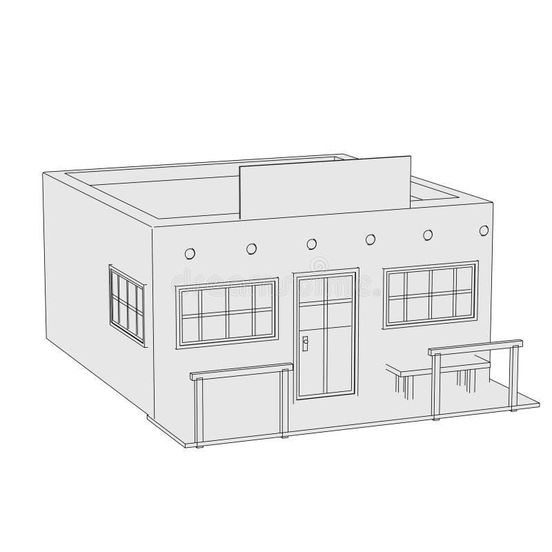 Imagen de la casa occidental ilustración del vector