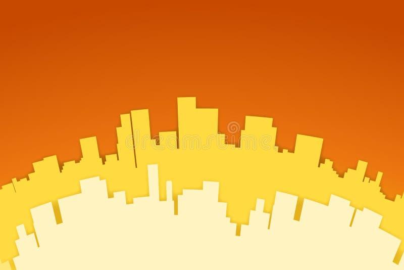 Imagen de la ciudad ilustración del vector