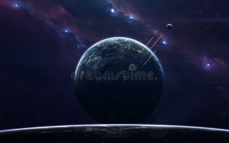 Imagen de la ficción de la ciencia espacial Elementos de esta imagen equipados por la NASA foto de archivo