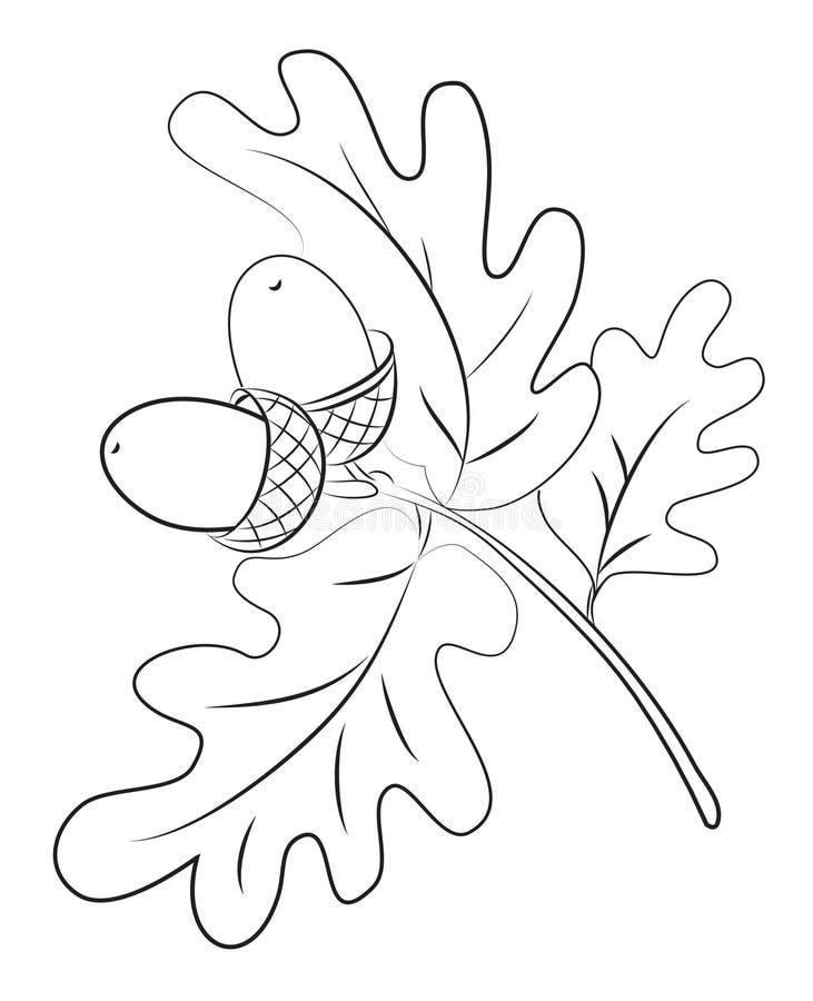 Imagen de la historieta de bellotas stock de ilustración