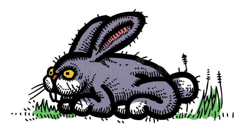 Imagen de la historieta del conejo stock de ilustración