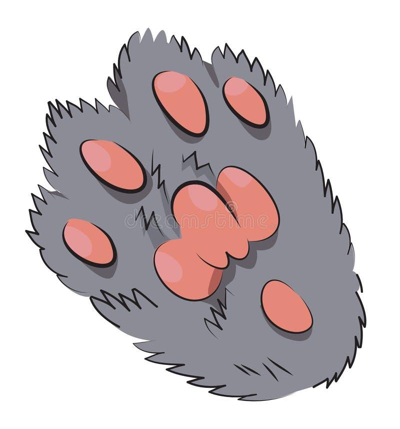 Imagen de la historieta del icono de la pata del gato Logo Concept ilustración del vector