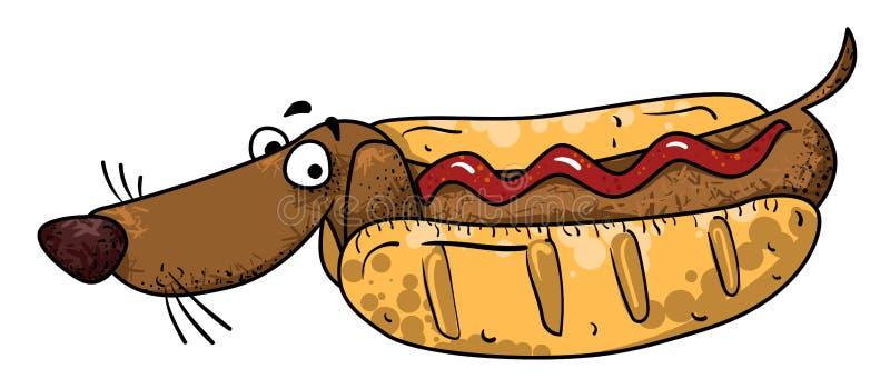 Imagen de la historieta del perro de salchicha libre illustration