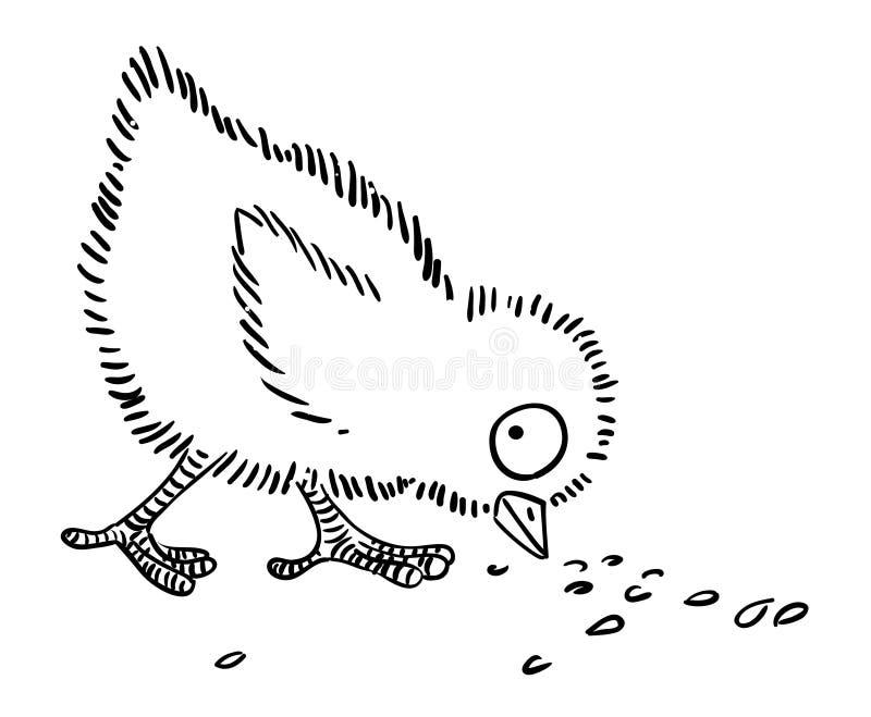 Imagen de la historieta del pollo ilustración del vector