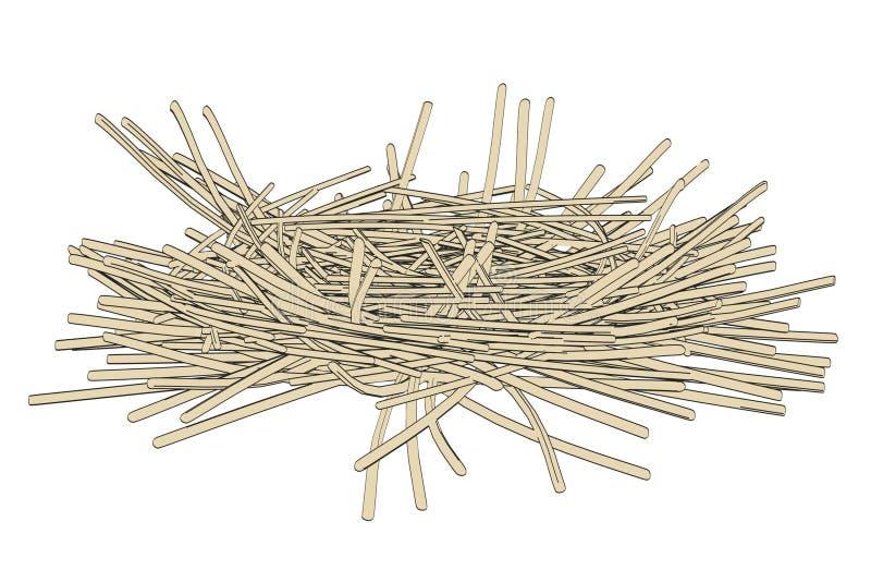 Imagen de la jerarquía de la urraca stock de ilustración