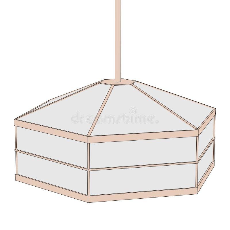 Imagen de la luz japonesa stock de ilustración