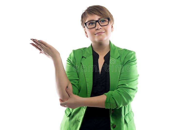 Imagen de la mujer de negocios desconcertada fotos de archivo libres de regalías