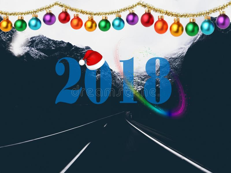 Imagen 2018 de la Navidad HD por completo imagenes de archivo