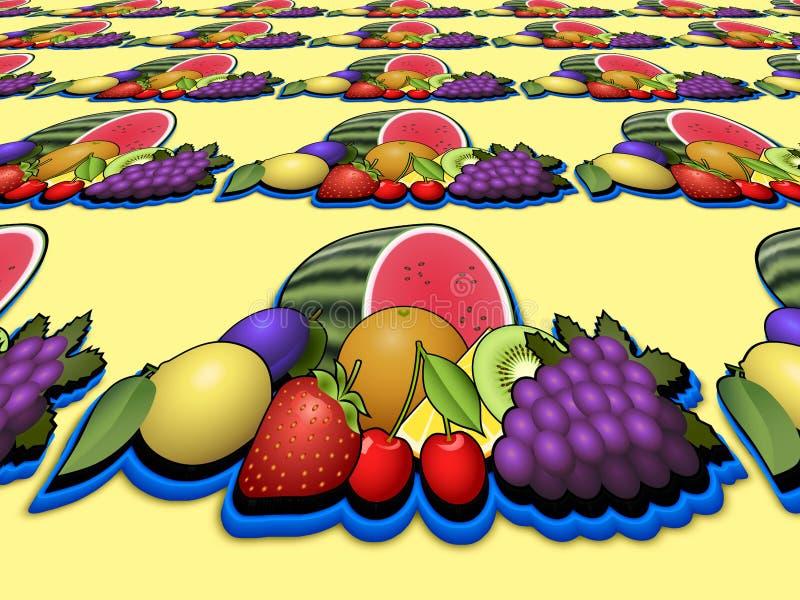 Imagen de la perspectiva del montón de las frutas libre illustration