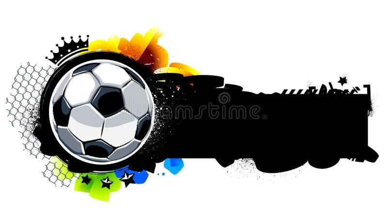 Imagen de la pintada con la bola ilustración del vector