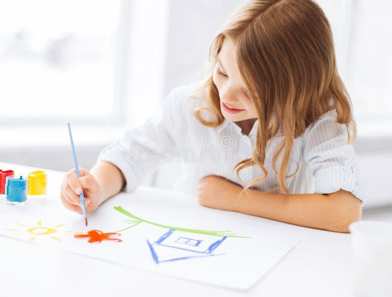 Imagen de la pintura de la niña foto de archivo libre de regalías