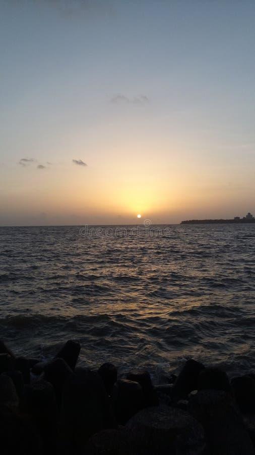 Imagen de la puesta del sol fotos de archivo libres de regalías