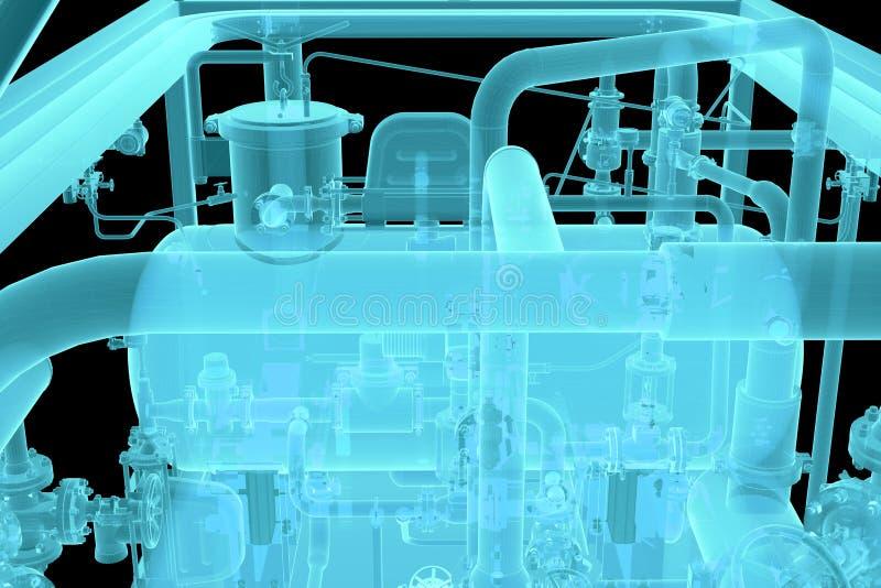 Imagen de la radiografía del equipo industrial imagen de archivo libre de regalías