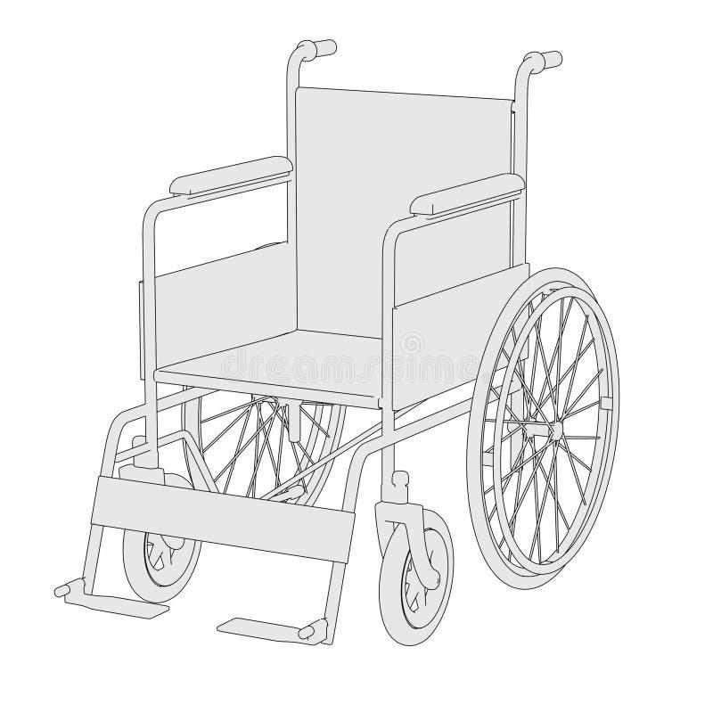Imagen de la silla de rueda stock de ilustración