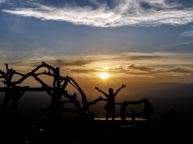 Imagen de la silueta del ganador fotos de archivo libres de regalías
