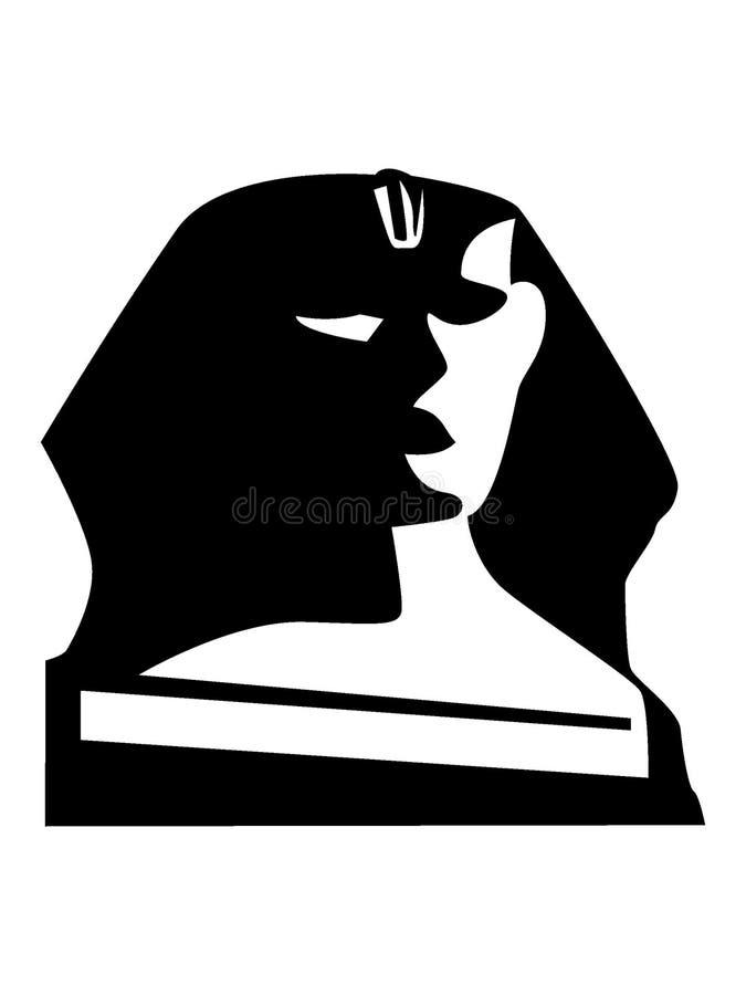 Imagen de la silueta de la esfinge de Egipto stock de ilustración