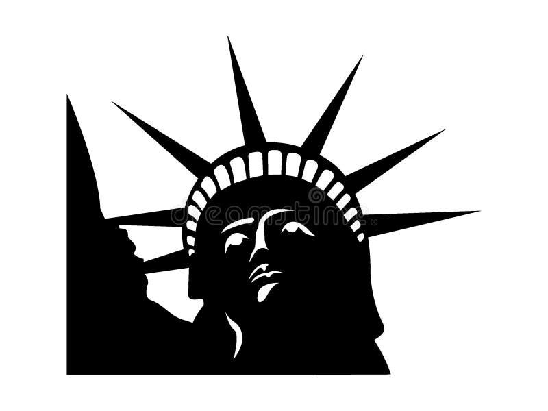 Imagen de la silueta de la estatua de la libertad ilustración del vector