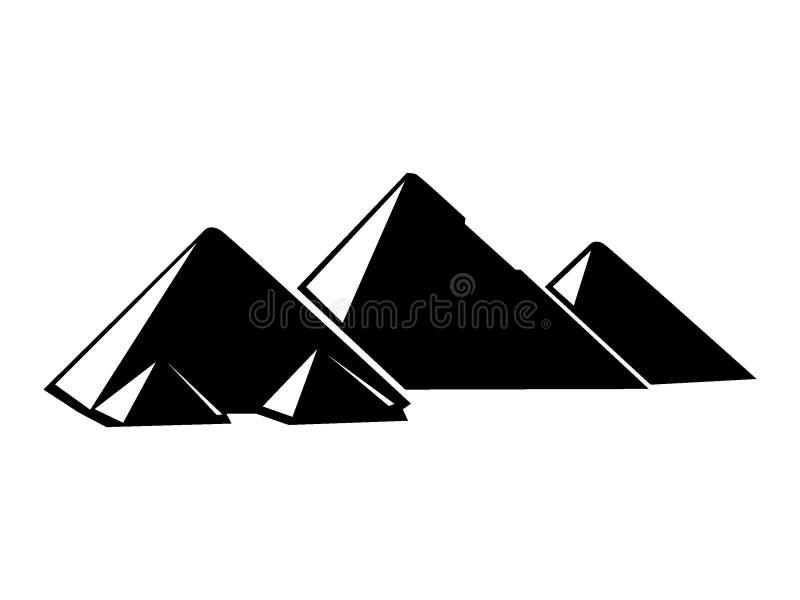Imagen de la silueta de pirámides de Giza ilustración del vector