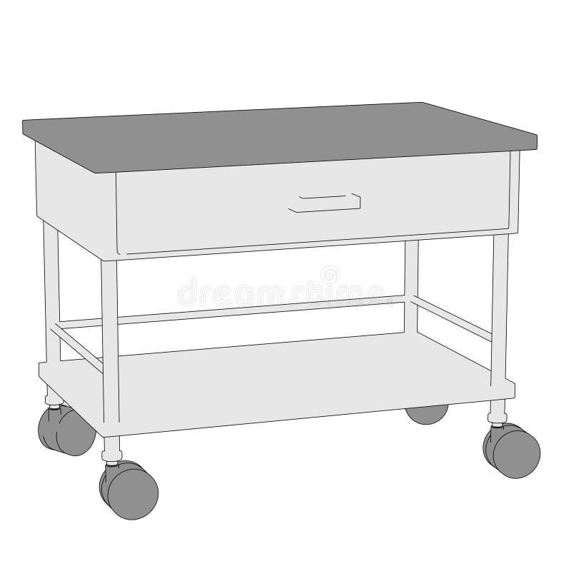 Imagen de la tabla médica stock de ilustración