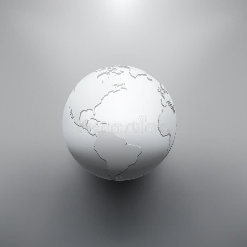Imagen de la tierra de Digitaces del globo libre illustration