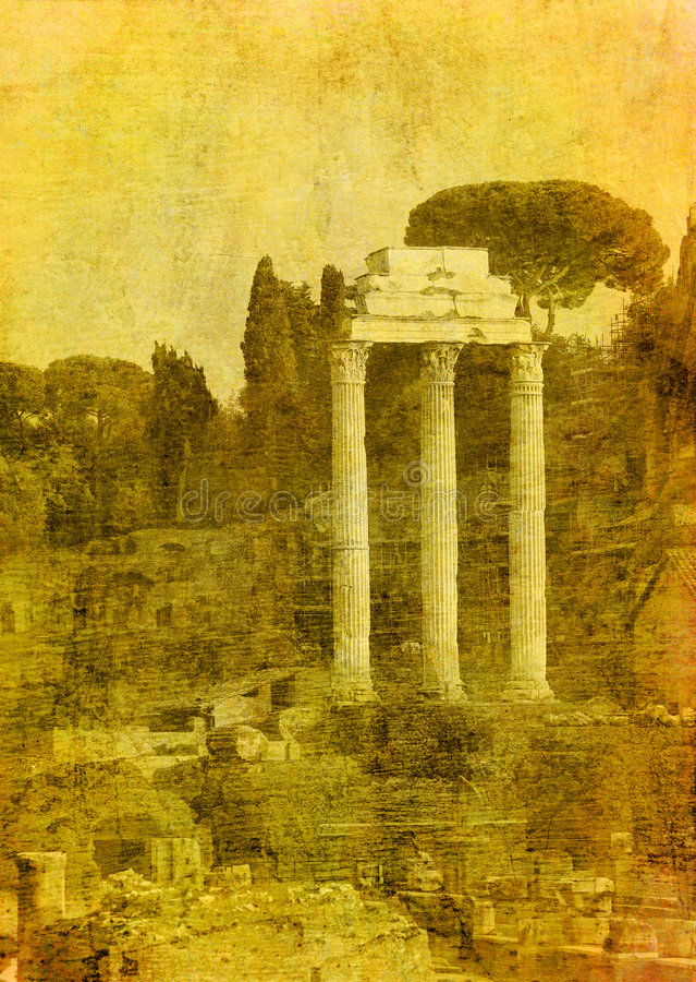 Imagen de la vendimia de las ruinas romanas libre illustration
