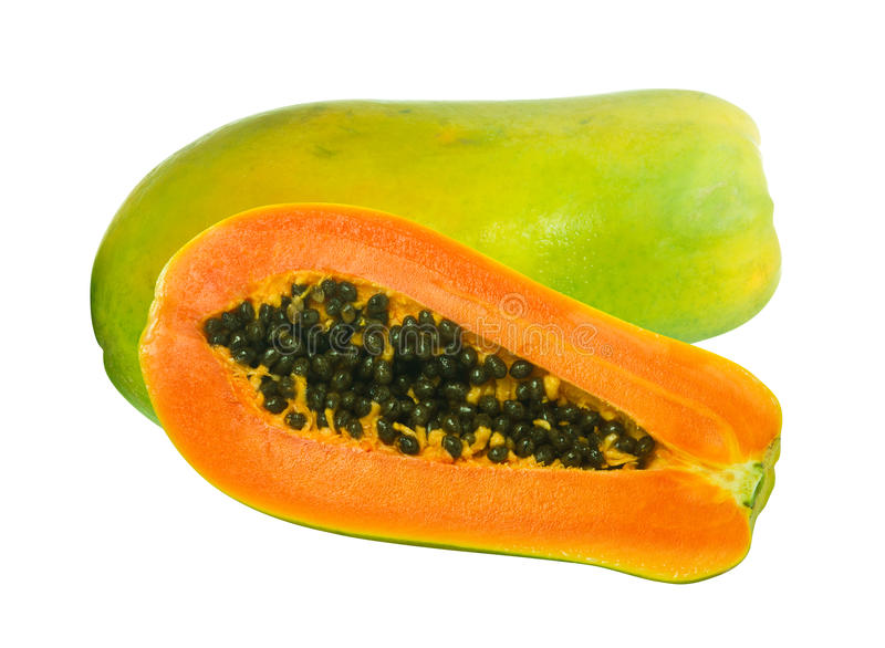 Imagen de las frutas de la papaya fotografía de archivo