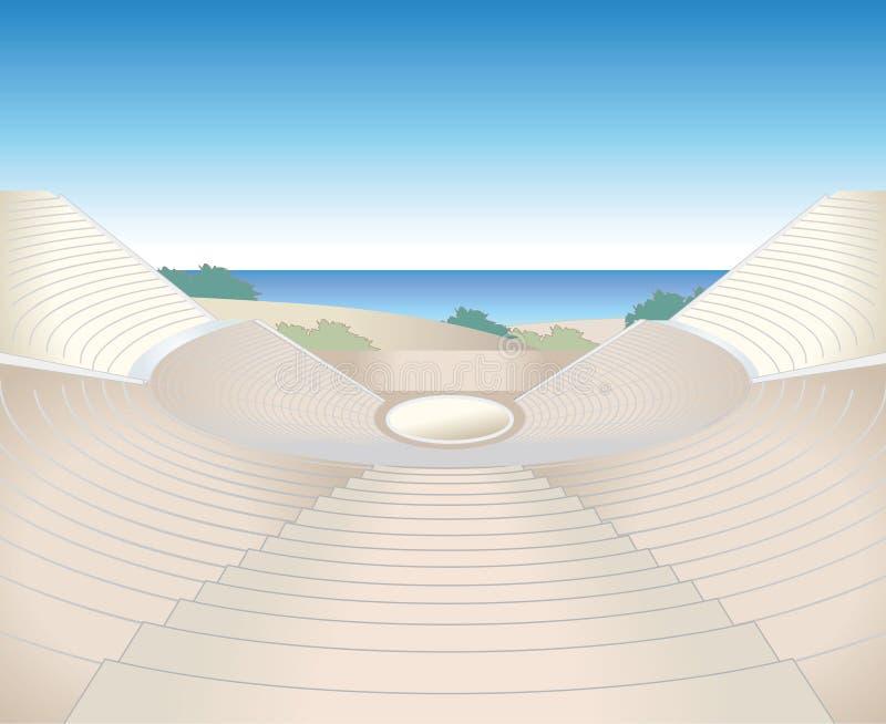 Imagen de las ruinas del anfiteatro stock de ilustración