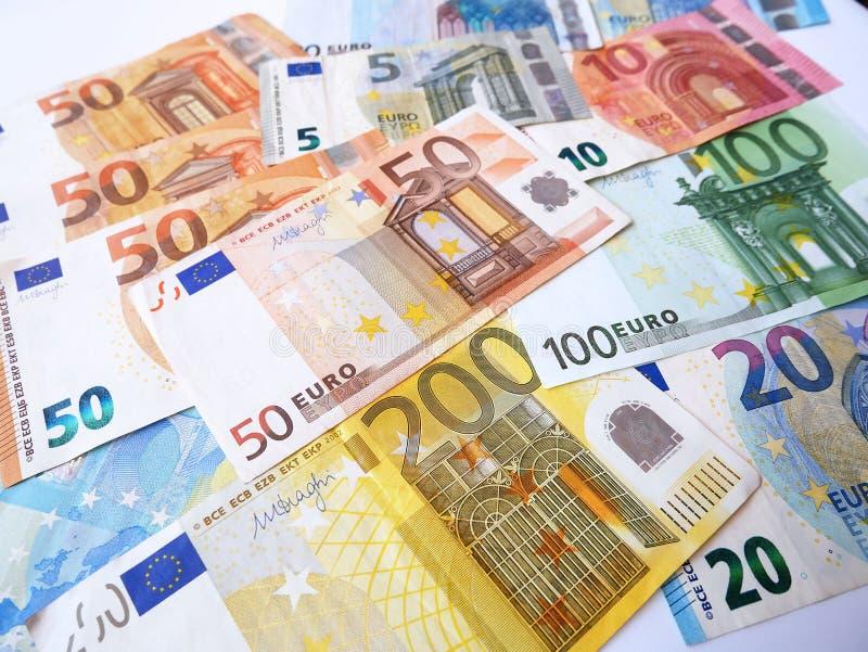 Imagen de los billetes de banco euro de la moneda imagen de archivo libre de regalías
