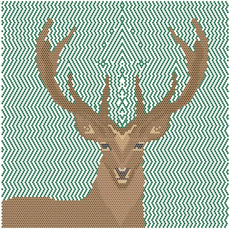 Imagen de los ciervos de formas geométricas libre illustration