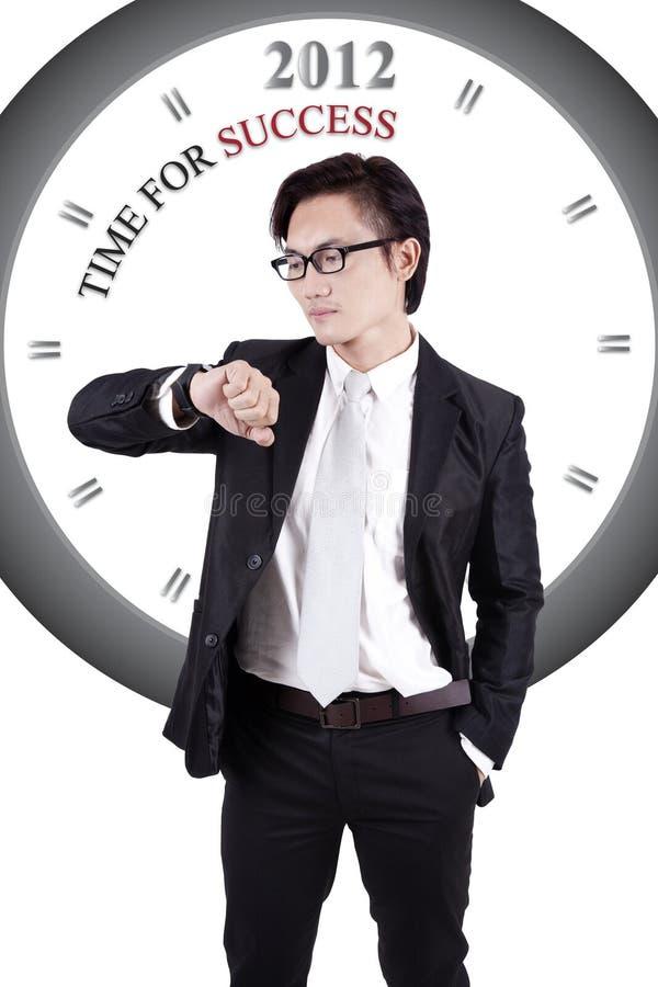 Imagen De Motivación: Hora Para El éxito Imágenes de archivo libres de regalías