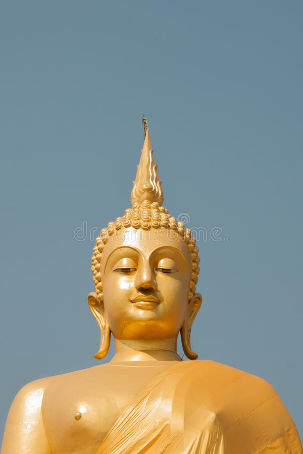 Imagen de oro de buddha foto de archivo libre de regalías
