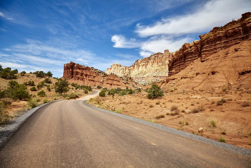 Imagen de un camino pintoresco imagenes de archivo