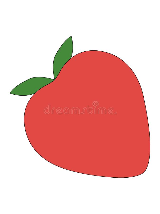 Imagen de una fruta de la fresa stock de ilustración