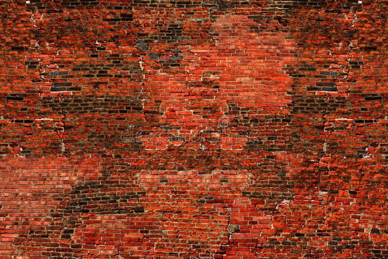 Imagen de una pared de ladrillo usada como fondo imagenes de archivo