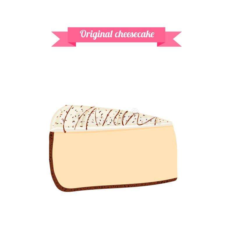 imagen de una torta sabrosa deliciosa en el fondo blanco para el diseño del menú, café, confitería libre illustration