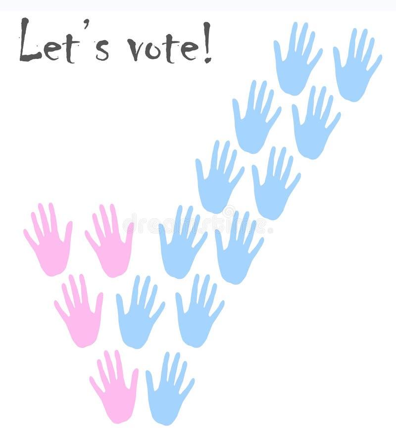 Imagen de votación de las manos imagen de archivo libre de regalías