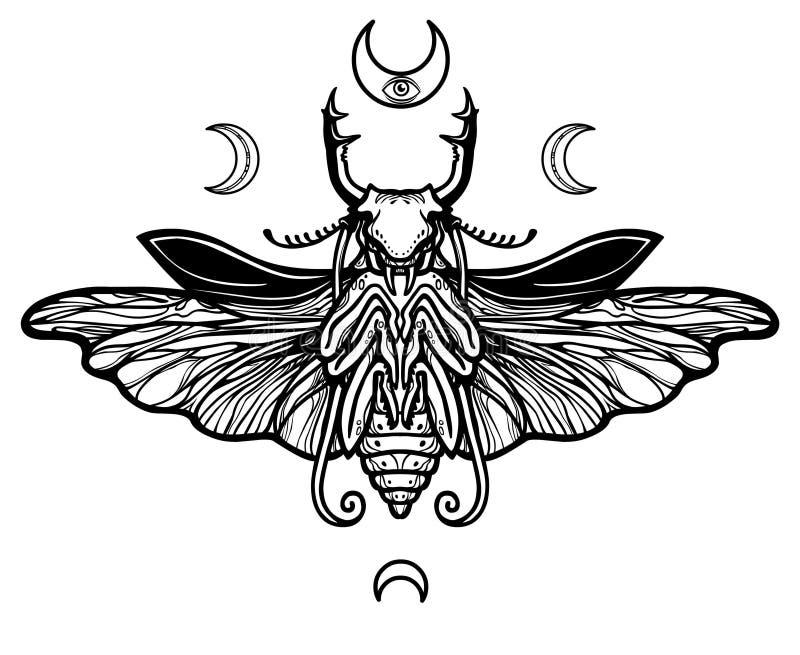 Imagen decorativa de la deidad antigua libre illustration