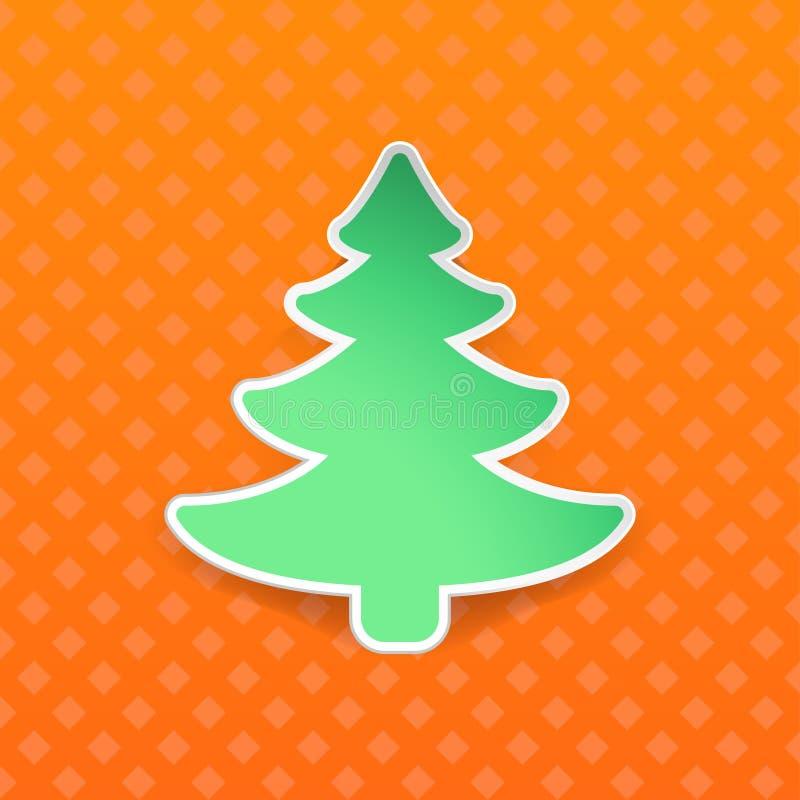 Imagen del árbol anaranjado stock de ilustración