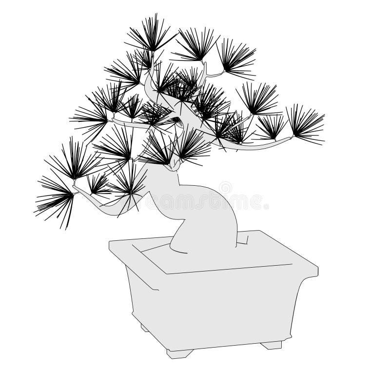 Imagen del árbol de los bonsais ilustración del vector